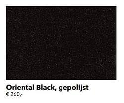 Oriental black, gepolijst