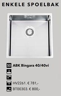Enkele spoelbak abk bingara 40-40vi-Huismerk - Kvik