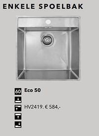 Enkele spoelbak eco 50-Huismerk - Kvik