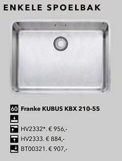 Enkele spoelbak franke kubus kbx 210-55