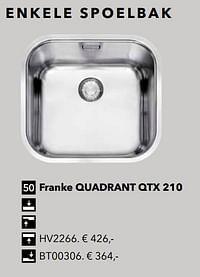 Enkele spoelbak franke quadrant qtx 210-Huismerk - Kvik