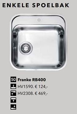 Enkele spoelbak franke rb400