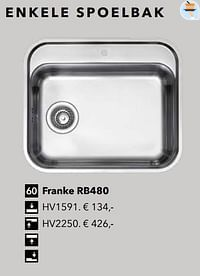 Enkele spoelbak franke rb480-Huismerk - Kvik