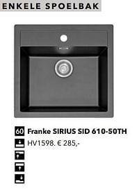 Enkele spoelbak franke sirius sid 610-50th-Huismerk - Kvik