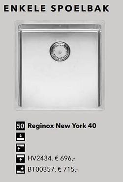 Enkele spoelbak reginox new york 40