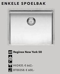 Enkele spoelbak reginox new york 50-Huismerk - Kvik