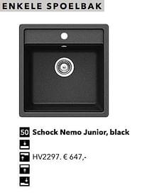 Enkele spoelbak schock nemo junior, black-Huismerk - Kvik