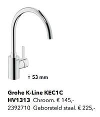 Kranen met c-uitloop grohe k-line kec1c-Grohe