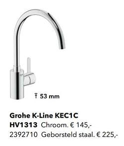 Kranen met c-uitloop grohe k-line kec1c