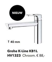 Kranen met l-uitloop grohe k-line kb1l-Grohe