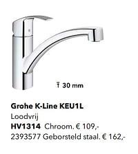 Kranen met l-uitloop grohe k-line keu1l-Grohe