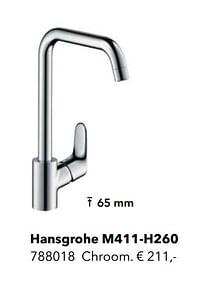 Kranen met l-uitloop hansgrohe m411-h260-Hansgrohe