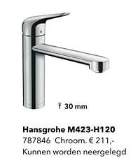 Kranen met l-uitloop hansgrohe m423-h120-Hansgrohe