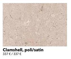 Clamshell, poli-satin