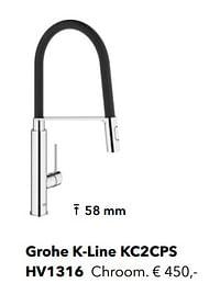 Industriële kranen grohe k-line kc2cps-Grohe