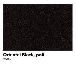 Oriental black, poli
