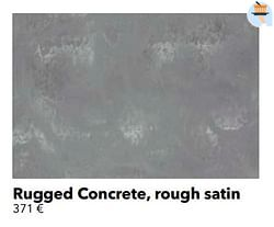 Rugged concrete, rough satin