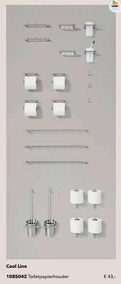 Cool line toiletpapierhouder