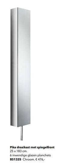 Pika draaikast met spiegelfront-Huismerk - Kvik