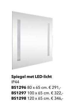 Spiegel met led-licht