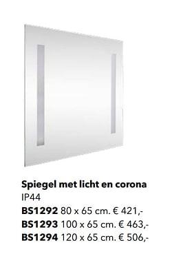 Spiegel met licht en corona