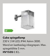 Verlichting cube spiegellamp-Huismerk - Kvik