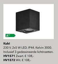 Verlichting kubi-Huismerk - Kvik