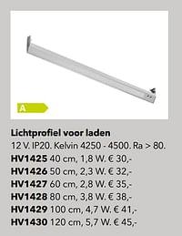 Verlichting lichtprofiel voor laden-Huismerk - Kvik