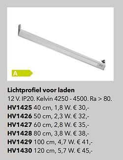 Verlichting lichtprofiel voor laden