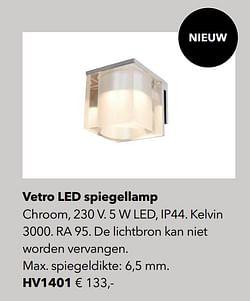 Verlichting vetro led spiegellamp