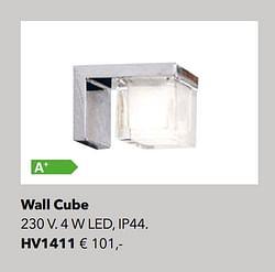 Verlichting wall cube