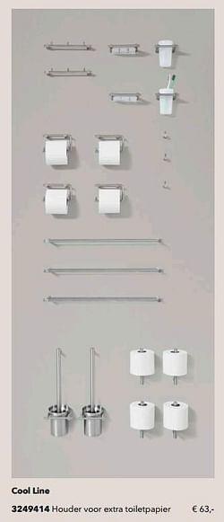 Cool line houder voor extra toiletpapier