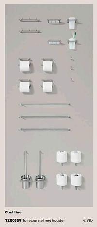 Cool line toiletborstel met houder-Huismerk - Kvik