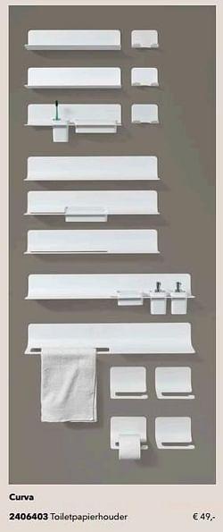 Curva toiletpapierhouder