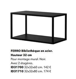 Ferro bibliothèque en acier hauteur