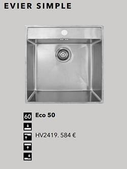 Évier simple eco 50