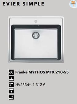 Évier simple franke mythos mtx 210-55