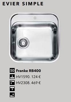 Évier simple franke rb400