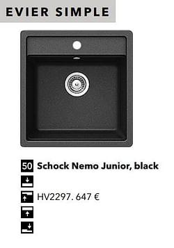 Évier simple schock nemo junior, black