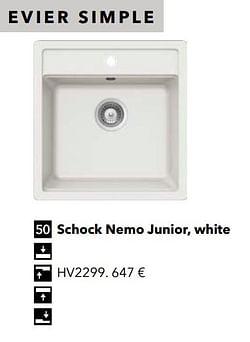 Évier simple schock nemo junior, white