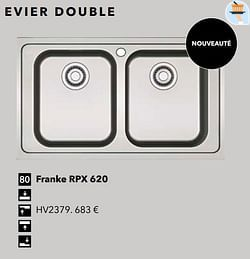 Evier double franke rpx 620