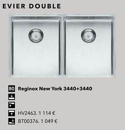 Evier double reginox new york 3440+3440