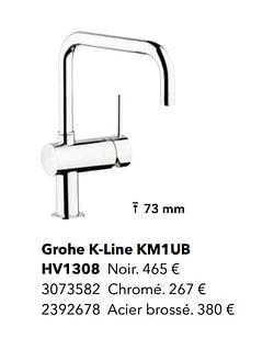Robinetteries avec bec l grohe k-line km1ub