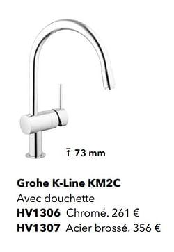 Robinetteries de cuisine grohe k-line km2c