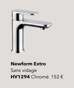 Robinetteries de salle de bains newform extro