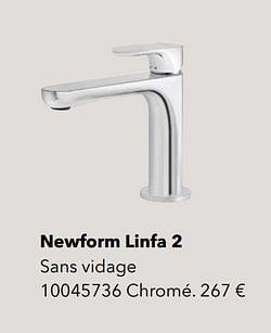 Robinetteries de salle de bains newform linfa 2