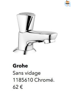 Robinetteries eau froide grohe