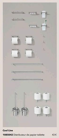 Cool line distributeur de papier toilette