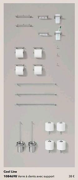 Cool line verre à dents avec support