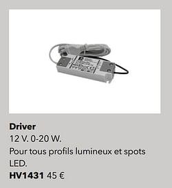 Éclairages driver